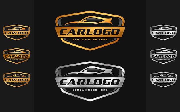 Conjunto de carro, modelo de logotipo automotivo Vetor Premium