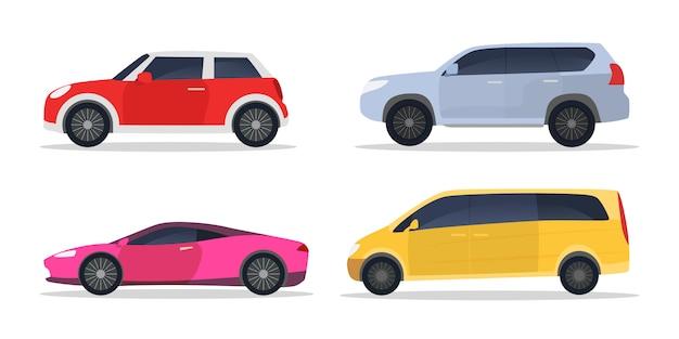 Conjunto de carros da cidade Vetor grátis