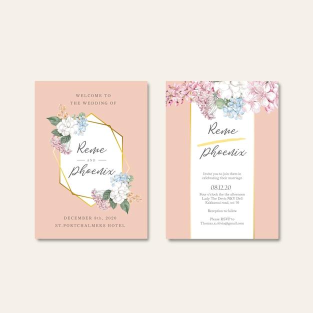 Conjunto de cartão de capina floral Vetor grátis
