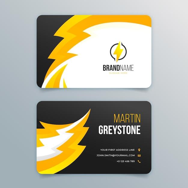 Conjunto de cartão de visita dupla-face para eletricista Vetor grátis