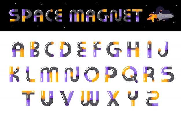 Conjunto de cartas de fonte criativa alfabeto Vetor grátis