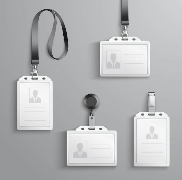 Conjunto de cartões de identificação Vetor grátis