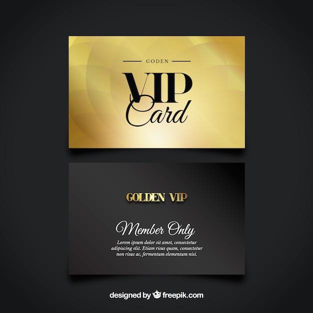 Conjunto de cartões vip dourados e negros Vetor grátis