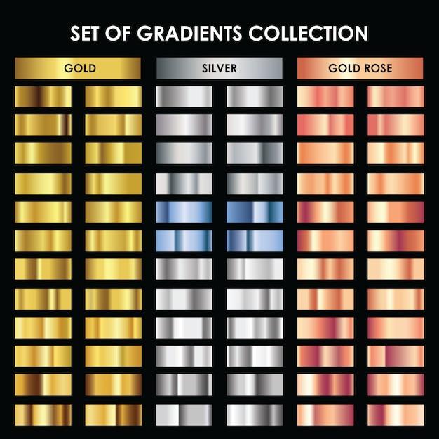 Conjunto de coleta de gradientes Vetor Premium