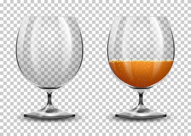 Conjunto de copos transparentes Vetor grátis