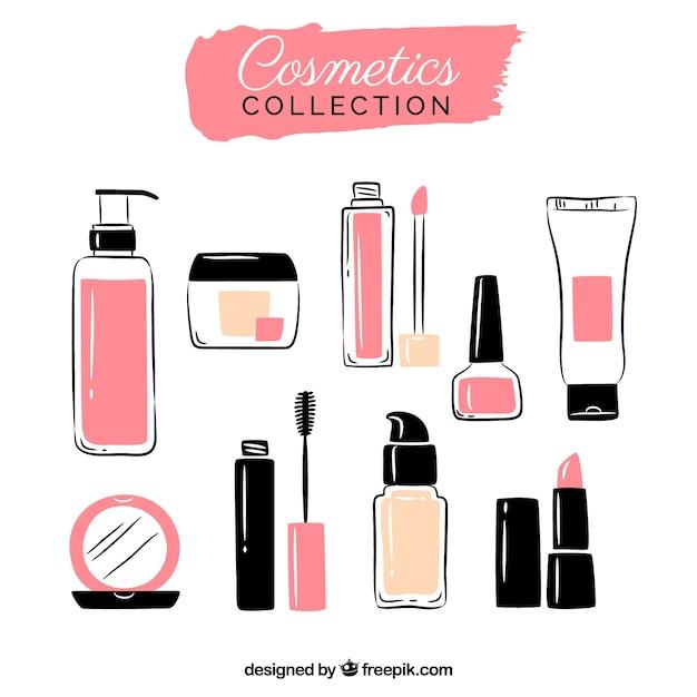 Conjunto de cosméticos Vetor Premium