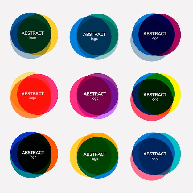 Conjunto de desenhos abstratos distintivos Vetor grátis