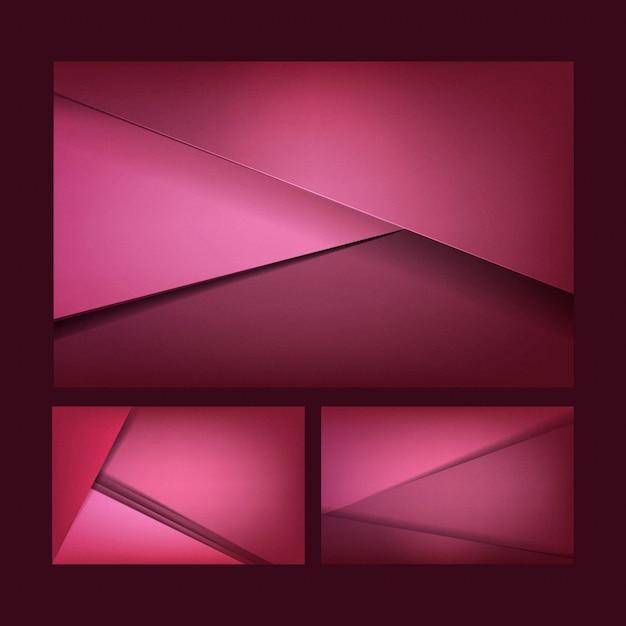 Conjunto de desenhos abstratos em rosa escuro Vetor grátis