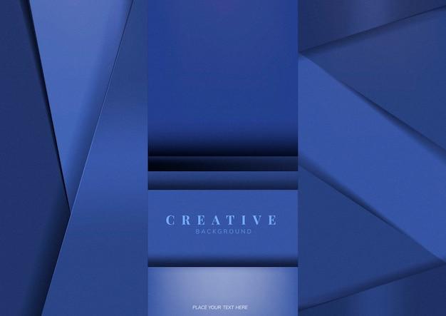 Conjunto de desenhos de fundo criativo em azul Vetor grátis