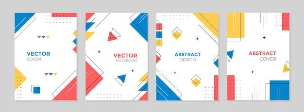 Conjunto de design abstrato geométrico criativo Vetor Premium