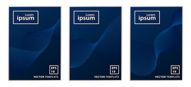 Conjunto de design de capa brochura comercial mínima Vetor Premium