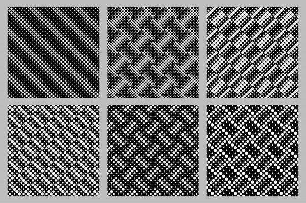 Conjunto de design de fundo geométrico padrão sem costura círculo Vetor Premium