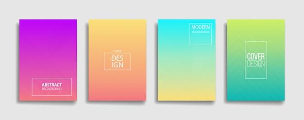 Conjunto de design de fundo gradiente colorido Vetor Premium