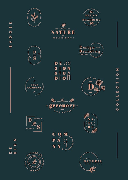 Conjunto de design de logotipo Vetor grátis