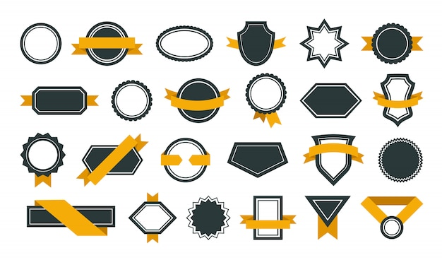 Conjunto de distintivos de prêmio Vetor grátis