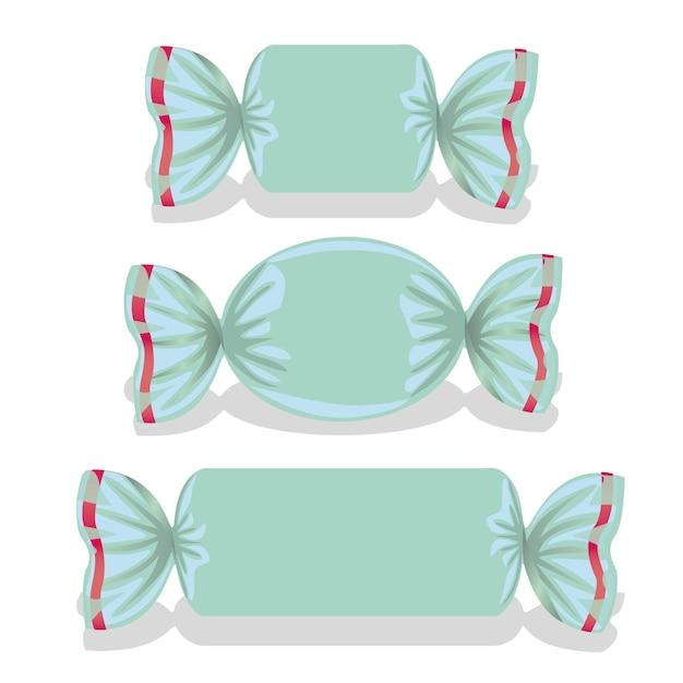 Conjunto de doces azuis inclui Vetor Premium