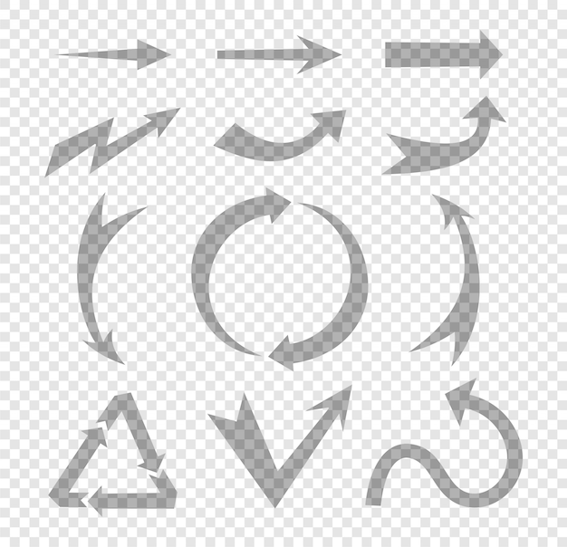 Conjunto de elemento de design de seta mão desenhada Vetor Premium