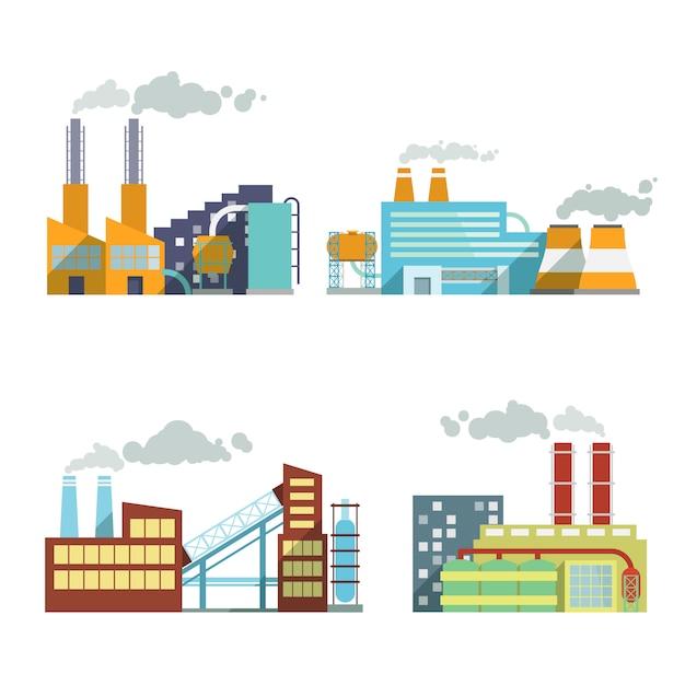Conjunto de elementos de indústria de construção Vetor grátis