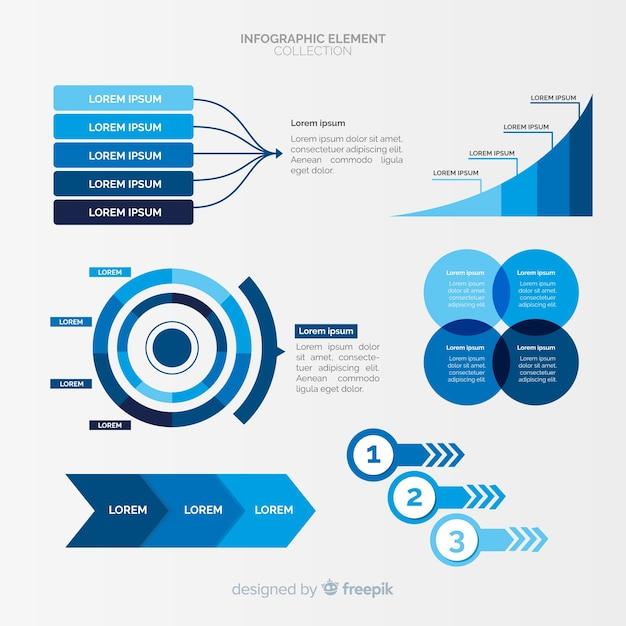 Conjunto de elementos diferentes infográfico Vetor grátis