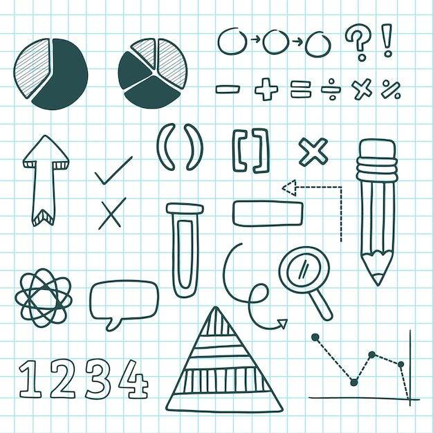 Conjunto de elementos infográficos para aulas na escola Vetor grátis