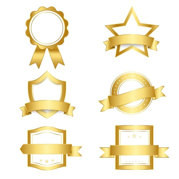 Conjunto de emblemas e banners vector Vetor grátis