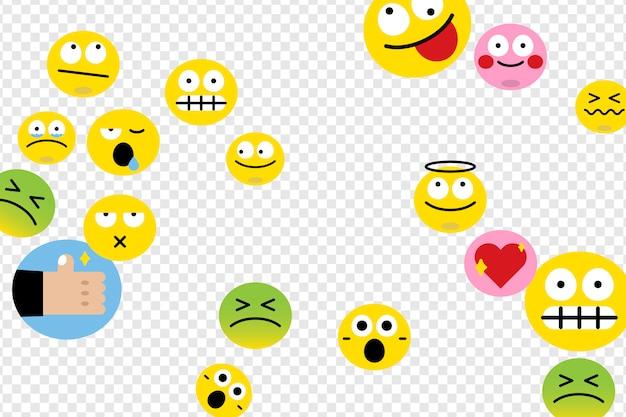 Conjunto de emoji diferente Vetor grátis