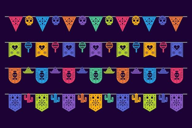 Conjunto de estamenha mexicana Vetor grátis