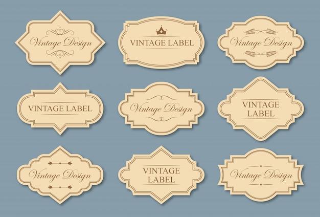 Conjunto de etiquetas de artesanato retrô Vetor grátis