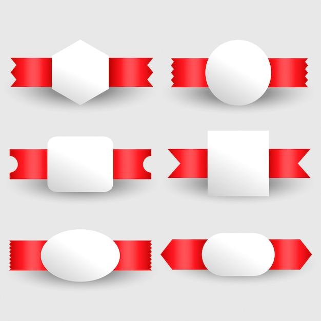Conjunto de etiquetas de fitas em branco Vetor grátis