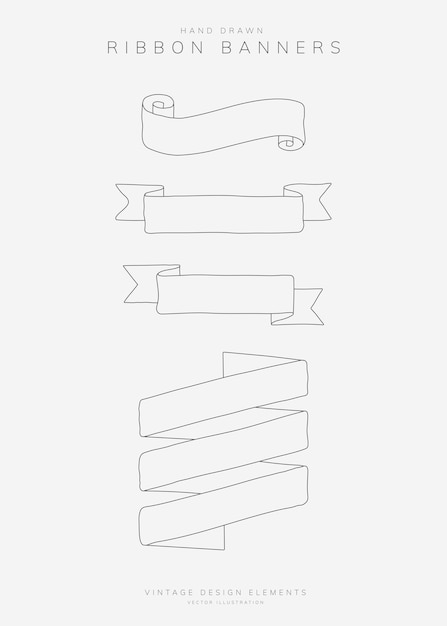 Conjunto de faixa de fita Vetor grátis