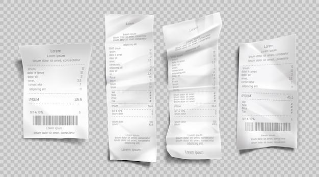 Conjunto de faturas de recebimento Vetor grátis