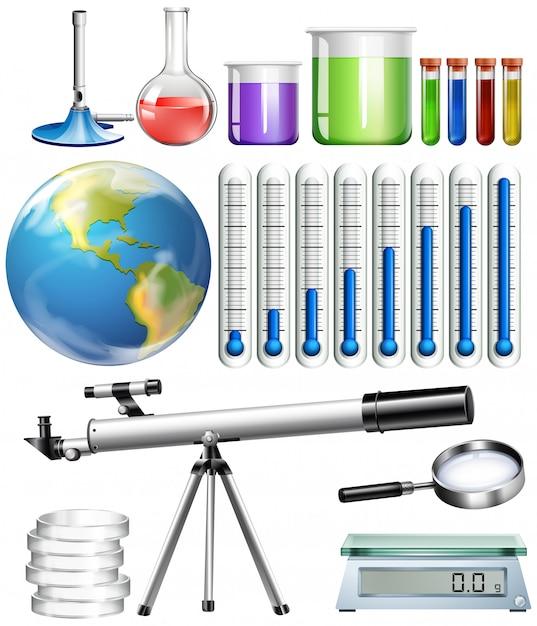 Conjunto de ferramentas científicas Vetor grátis