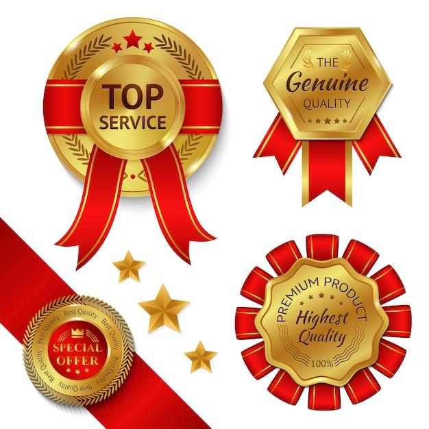 Conjunto de fitas de prêmio Vetor grátis