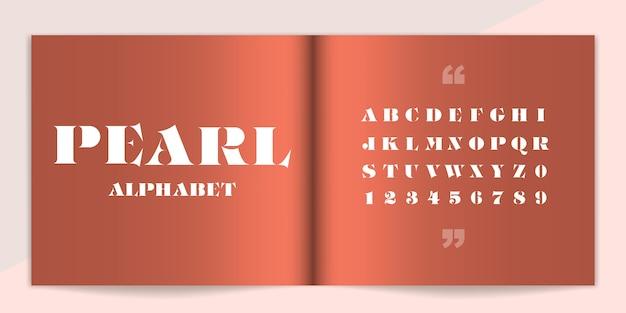 Conjunto de fonte e alfabeto premium. Vetor Premium