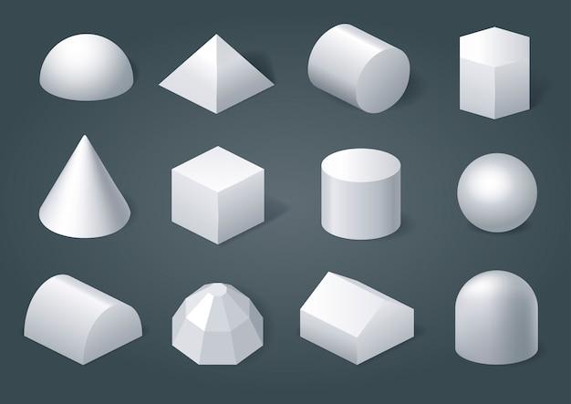 Conjunto de formas geométricas Vetor Premium