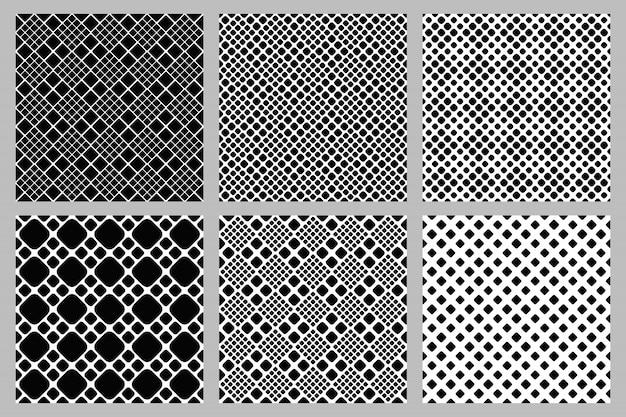 Conjunto de fundo abstrato sem costura padrão quadrado Vetor Premium