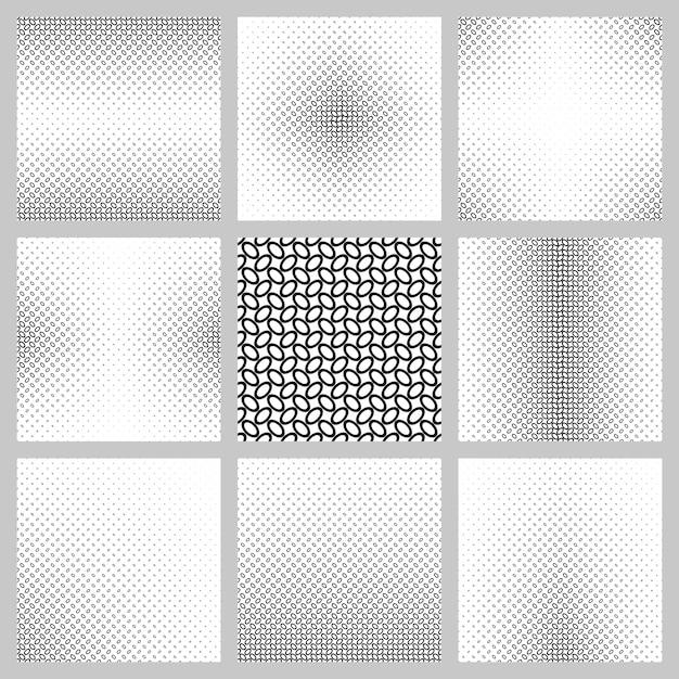 Conjunto de fundo do padrão de elipse preto e branco Vetor grátis