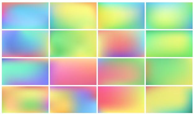 Conjunto de fundos coloridos. Vetor grátis