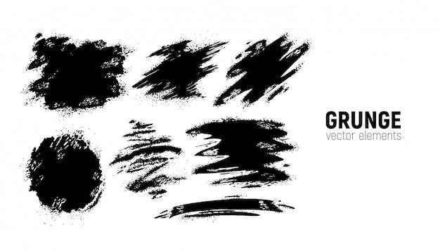 Conjunto de fundos do grunge Vetor Premium