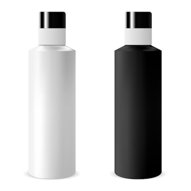 Conjunto de garrafa de xampu Vetor Premium