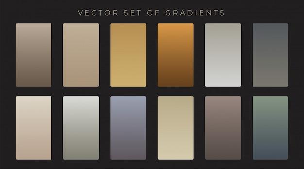 Conjunto de gradiente de estilo antigo vintage Vetor grátis