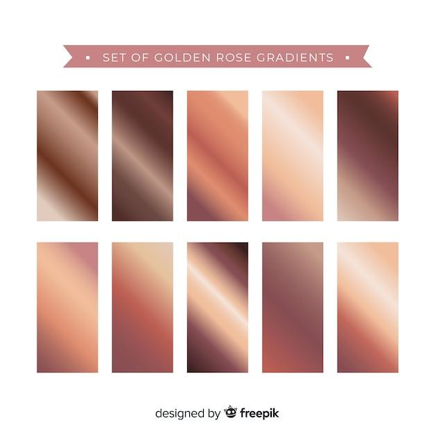 Conjunto de gradiente de ouro rosa Vetor grátis
