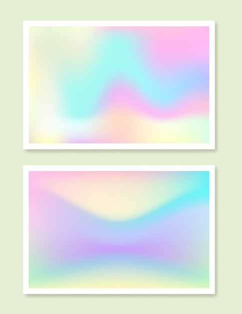 Conjunto de gradiente holográfico Vetor grátis