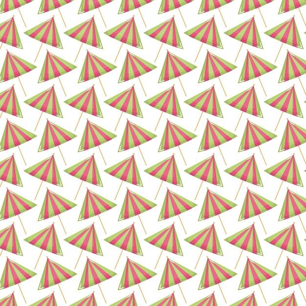 Conjunto de guarda-chuvas de cocktail padrão Vetor grátis