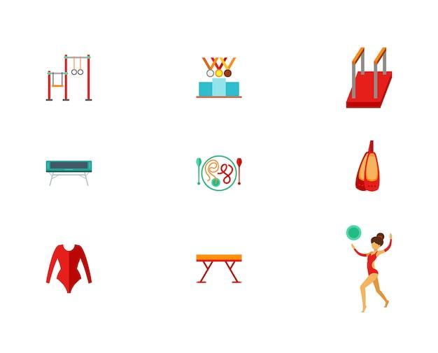 Conjunto de ícones de atletismo Vetor grátis