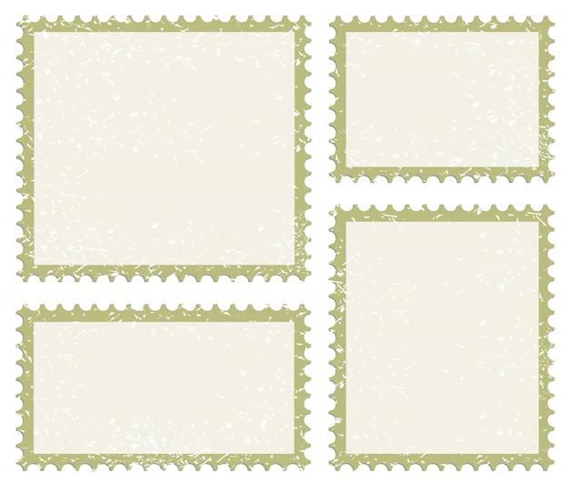 Conjunto de ícones de carimbo de postagem Vetor Premium