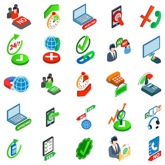 Conjunto de ícones de consentimento Vetor Premium