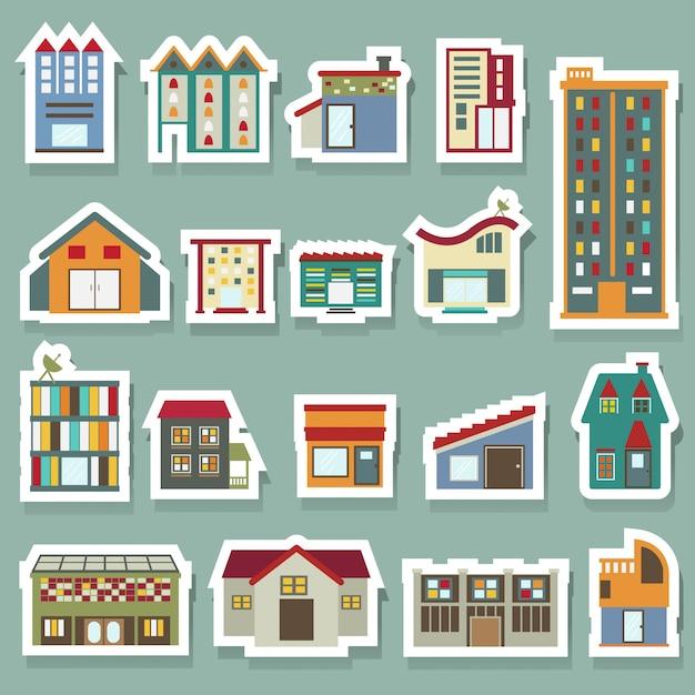 Conjunto de ícones de construção Vetor Premium