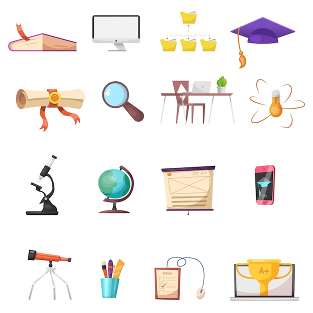 Conjunto de ícones de desenho on-line Vetor Premium