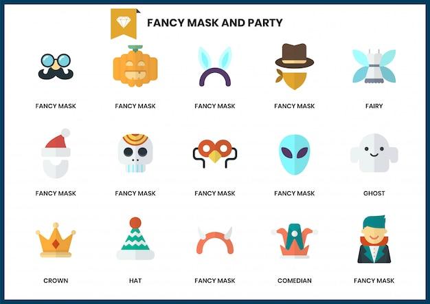Conjunto de ícones de festa para negócios Vetor Premium